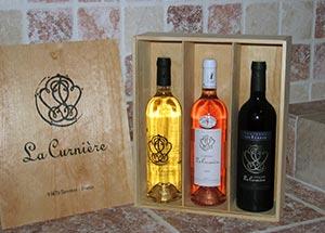 Coffret vin blanc rosé rouge La Curnière