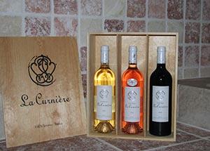 Coffret vins blanc rosé rouge Chateau La Curnière